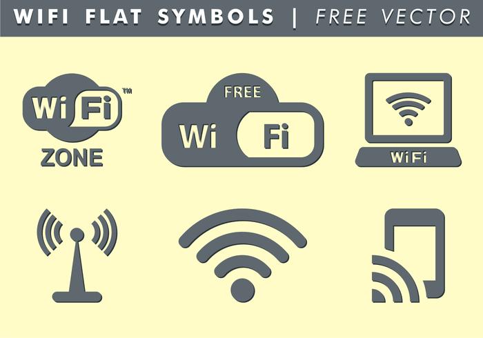 Símbolos de WiFi Vector Libre