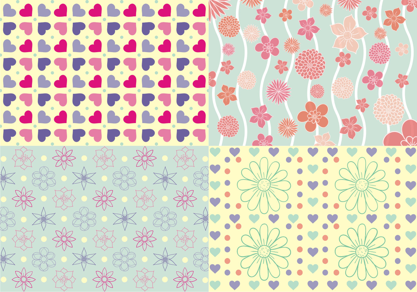 Girly Patterns Vector Download Free Vector Art Stock Graphics Amp Images