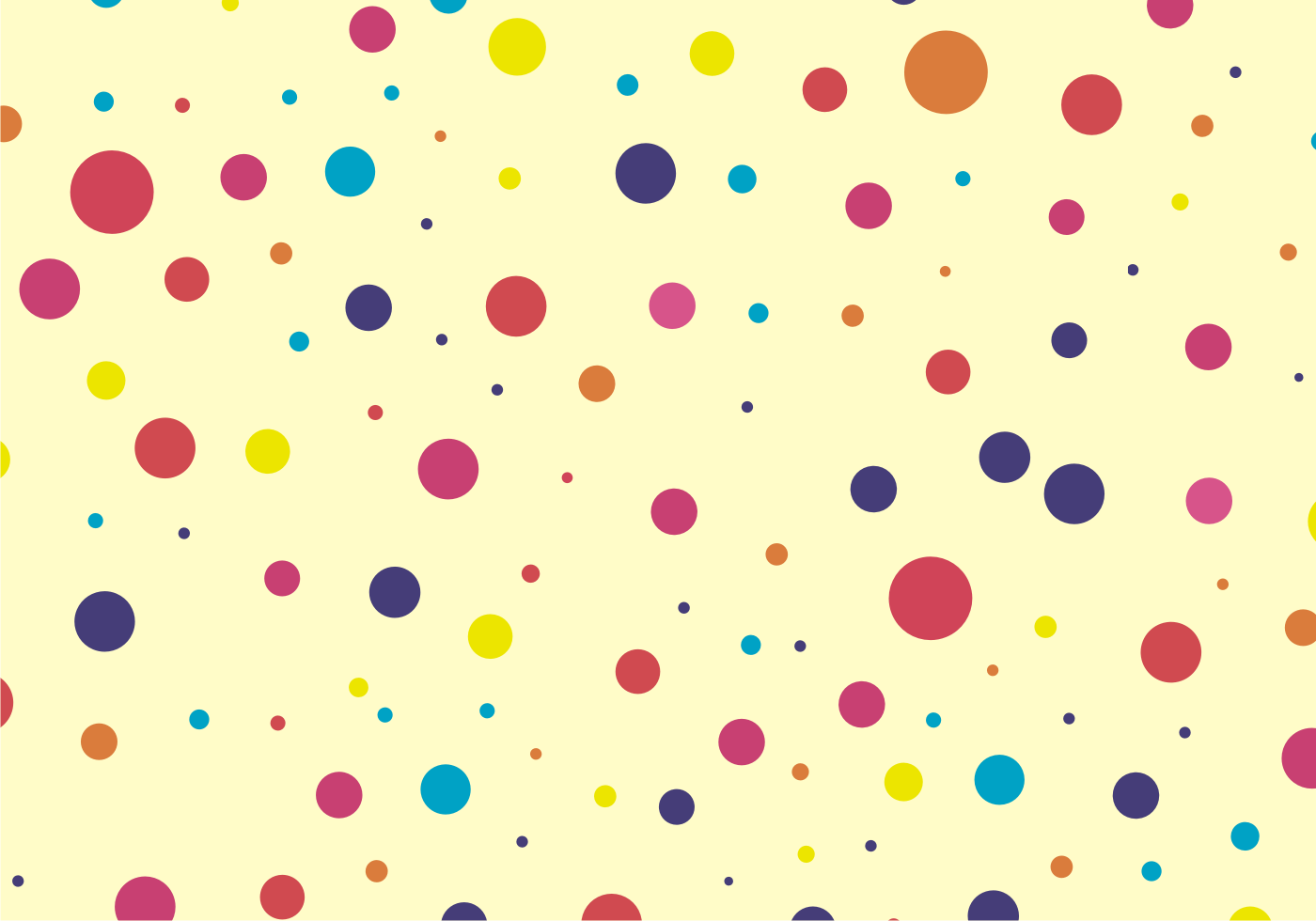 cute amp colorful dots pattern free vector download free