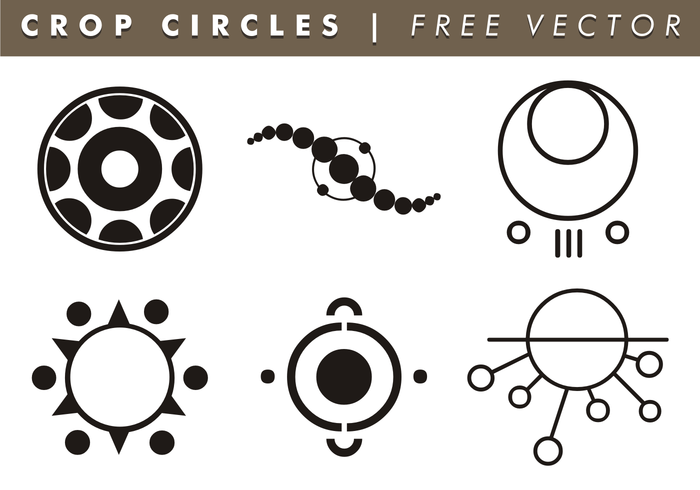 Crop Circles Free Vector