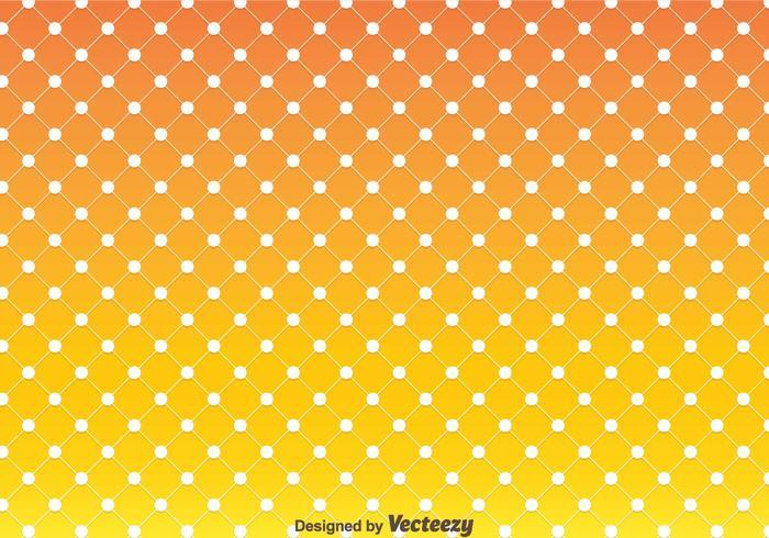 Orange Polka Dot Pattern Vector