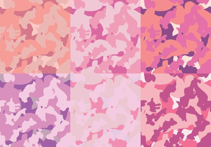 Fashion Pink Patterns Camo Texture