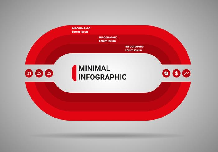 Vecteur d'infographie minimum gratuit