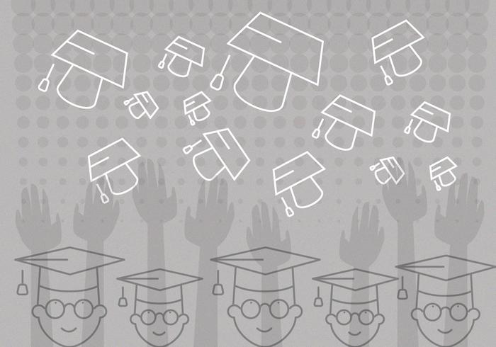 Graduation Background Vector
