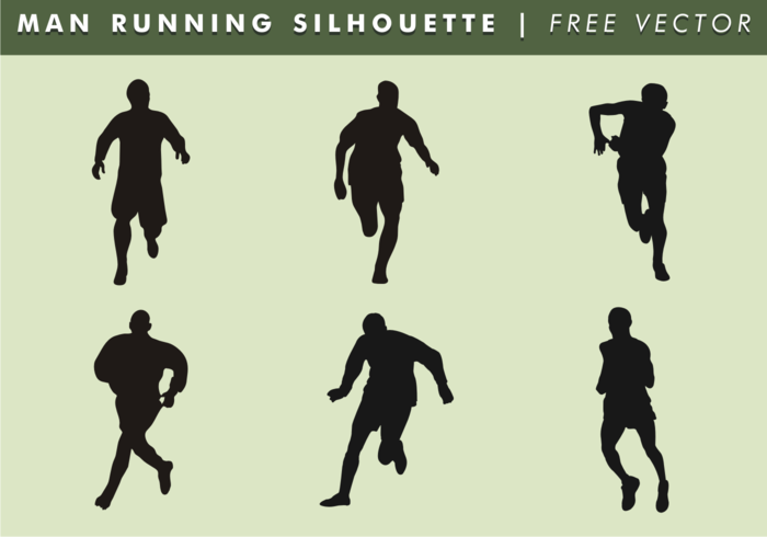 Man Running Silhouette Free Vector