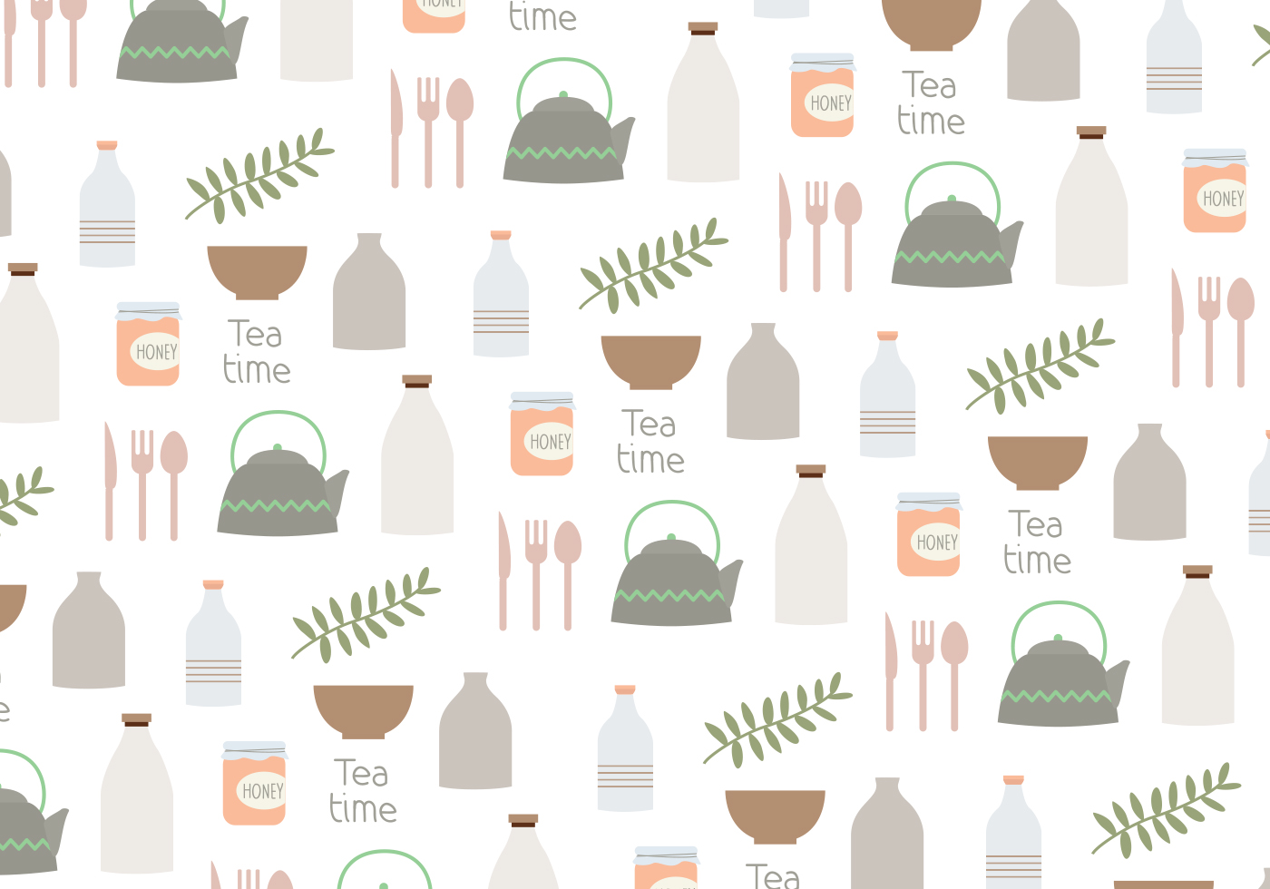 Vector Household Objects Pattern Background Download