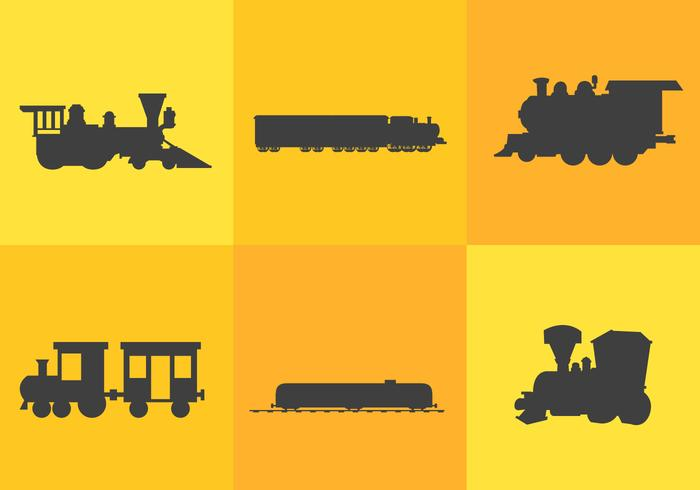Train Silhouette Vectors