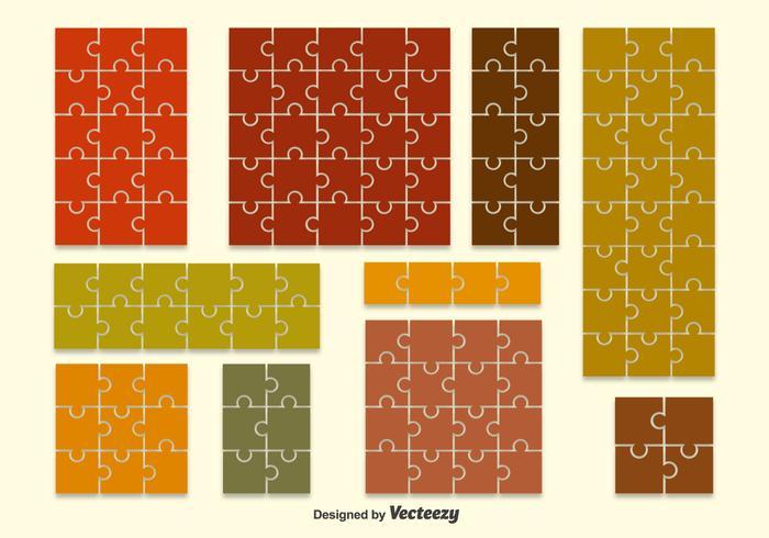 Puzzle Shape Backdrop Vectors