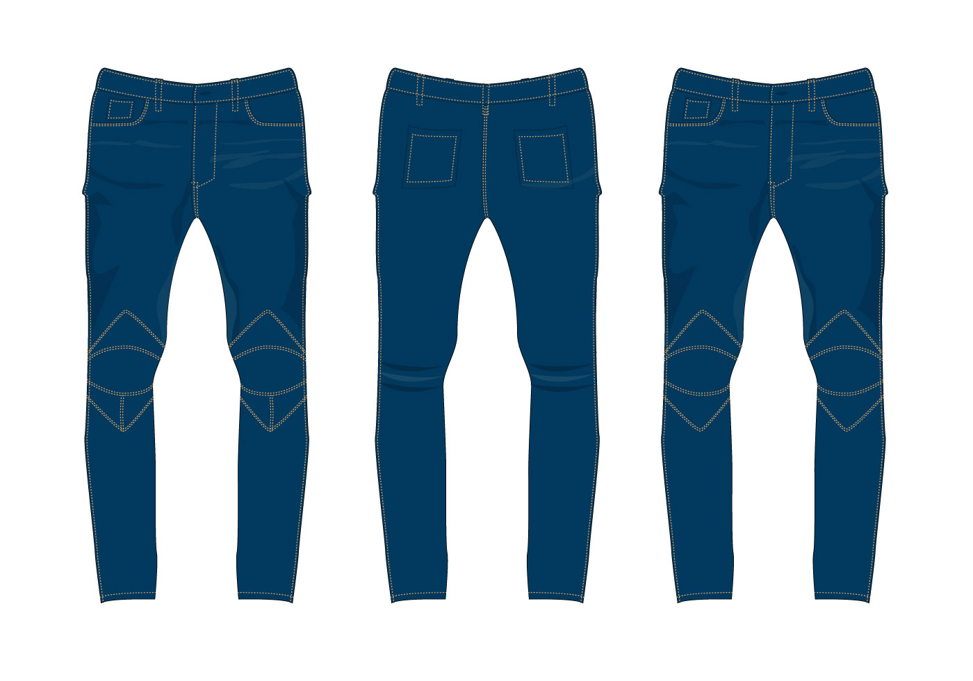 Free Jeans Pants Vector Download Free Vector Art Stock