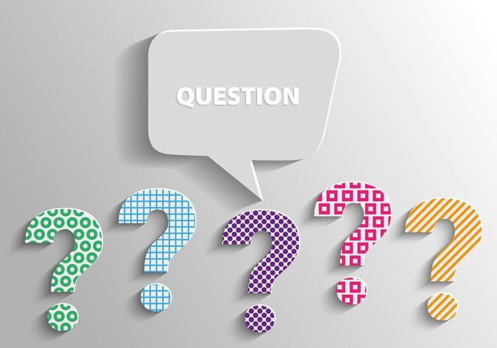 Free 3d Fragezeichen markiert Hintergrund Vektor