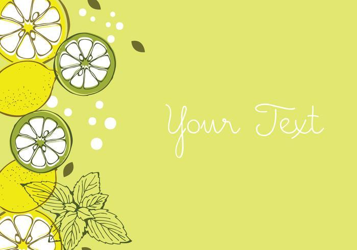 Lemon Background Design