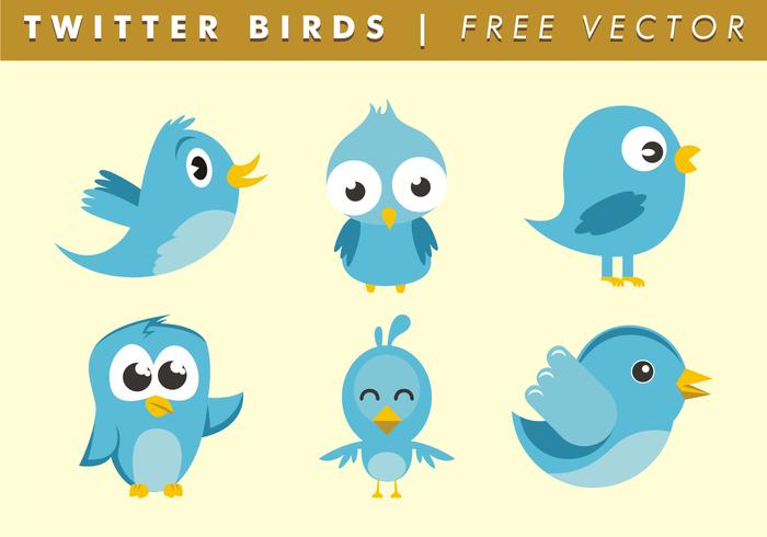 Twitter aves vectoriales gratis