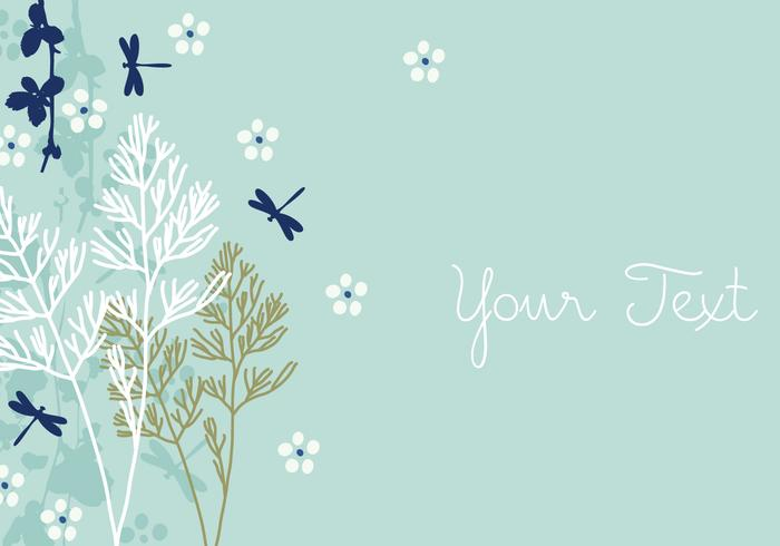 Dragonfly Background D...Clipart Flowers And Butterflies Border