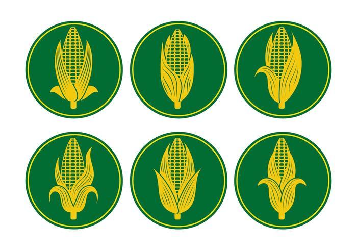 Vecteurs d'oreille de maïs
