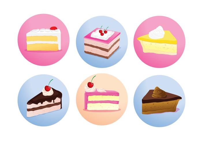 Cake Slice Isolated Vectors