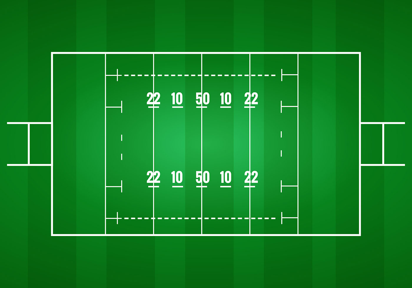 Rugby Pitch Vector Download Free Vector Art Stock