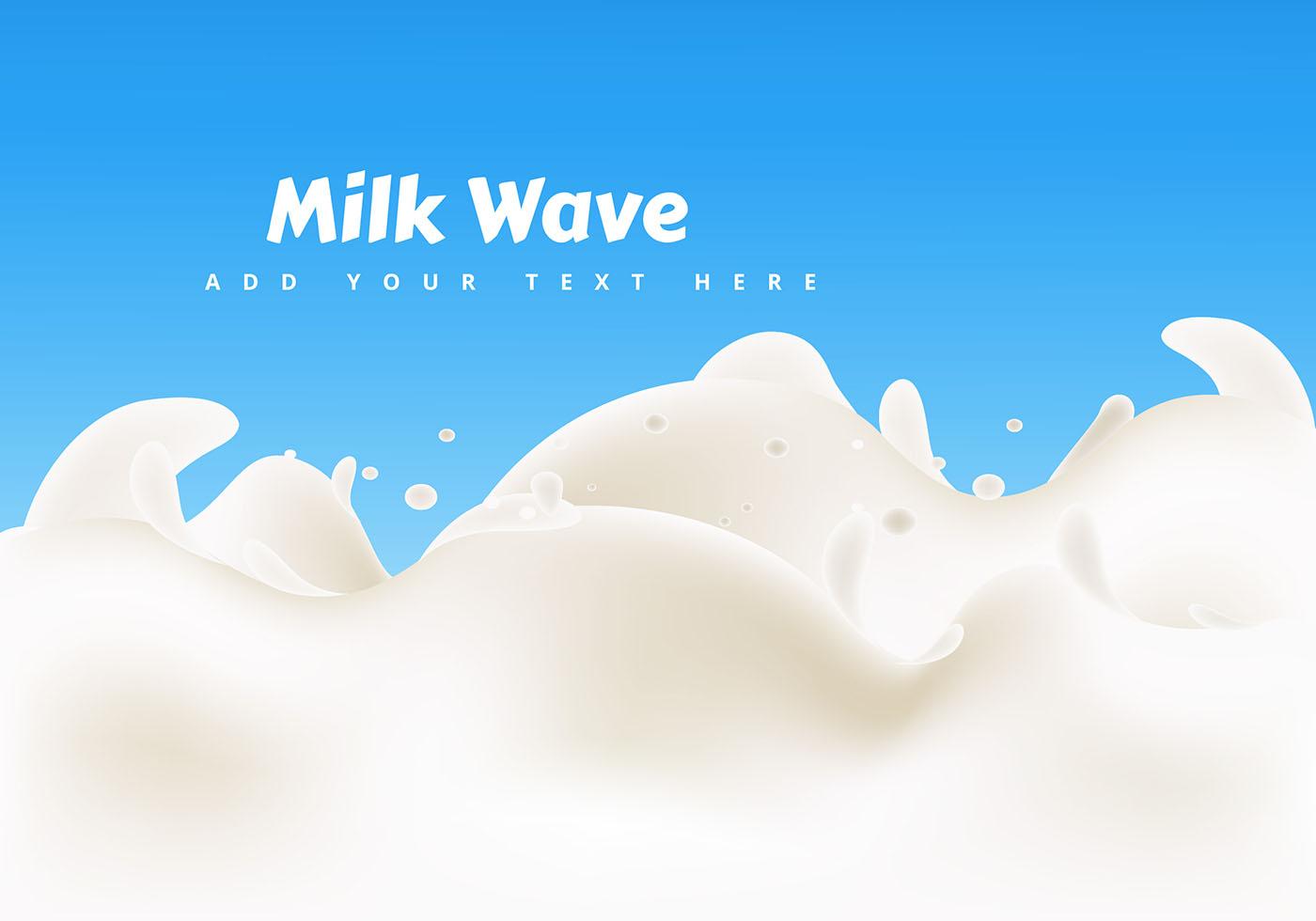 Milk Wave Design Vector Download Free Vector Art Stock