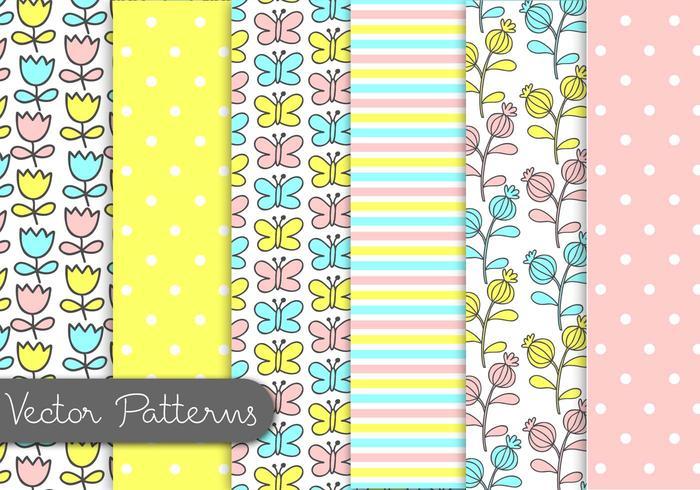 Cute Kids Pattern Set vector