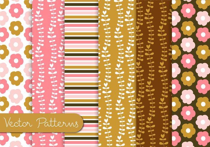 Conjunto de patrones de chocolate rosa