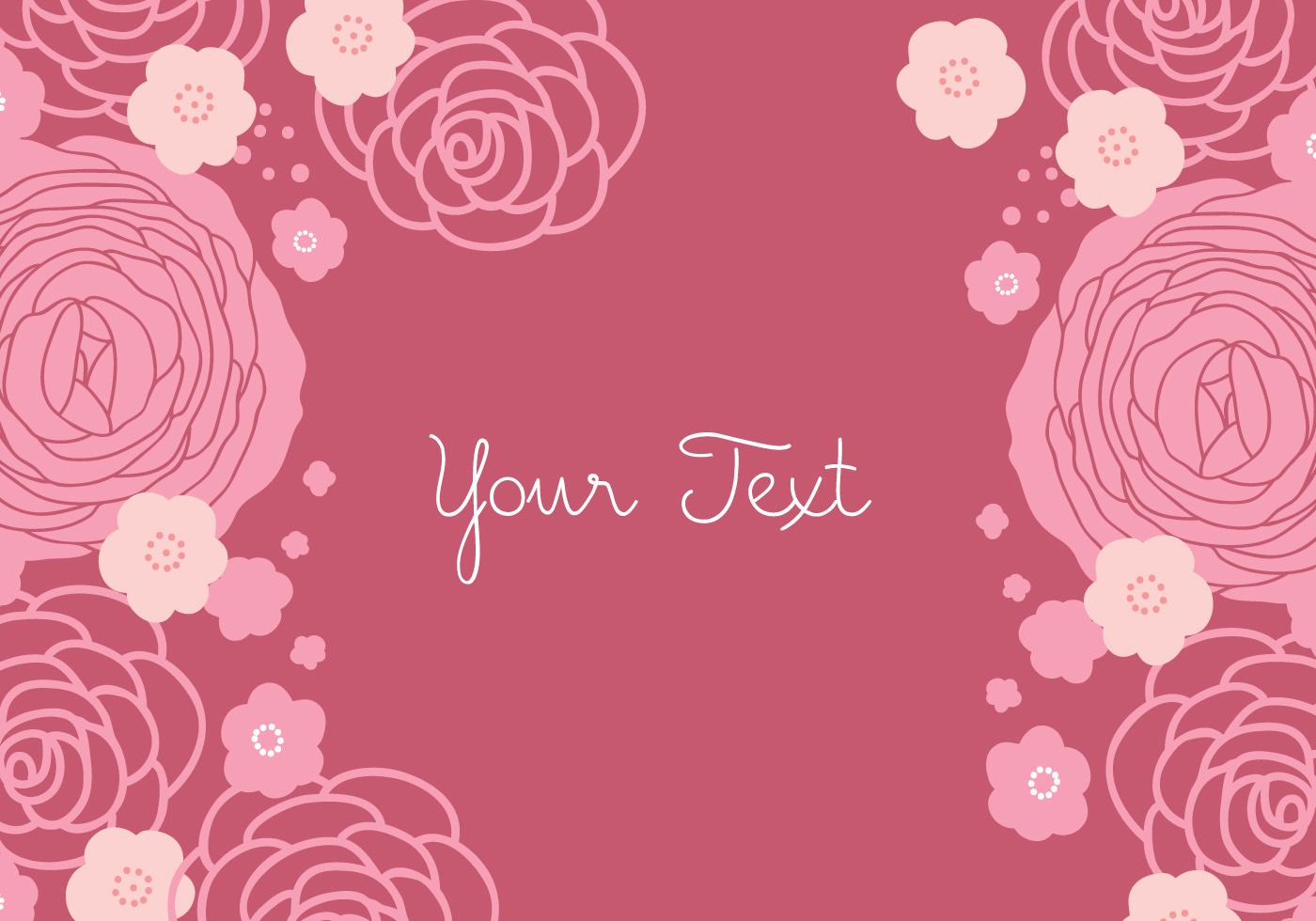 Floral Rose Background Design - Download Free Vector Art ...