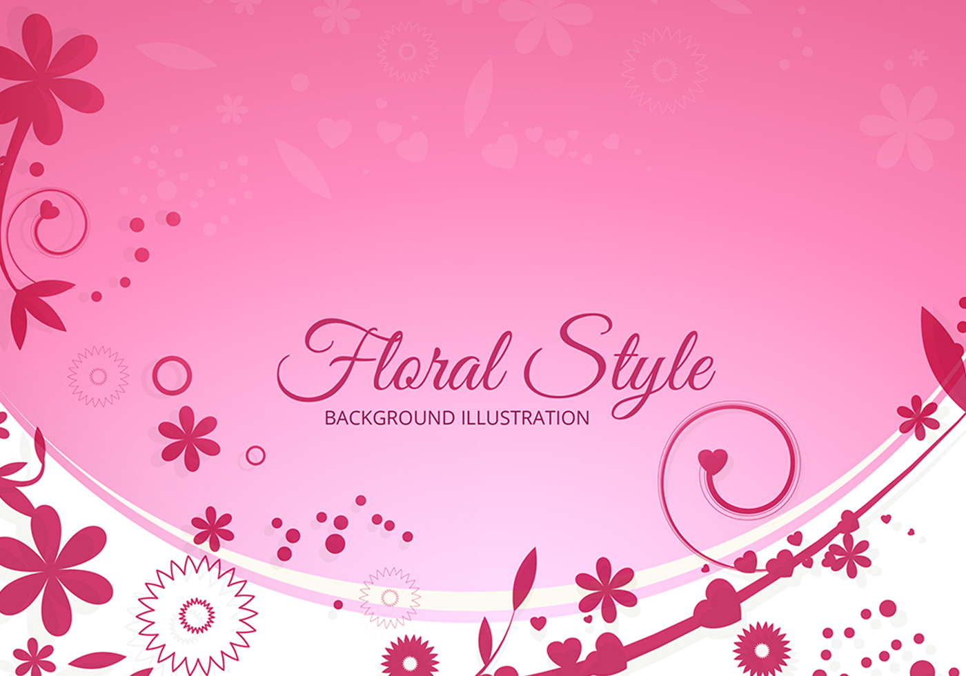 Floral Pink Vector Background Download Free Vectors Clipart
