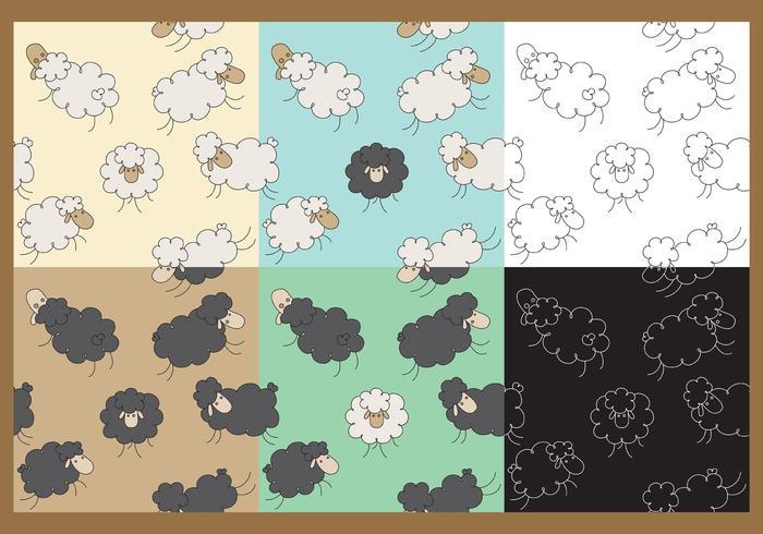 Vector Sheep Patterns