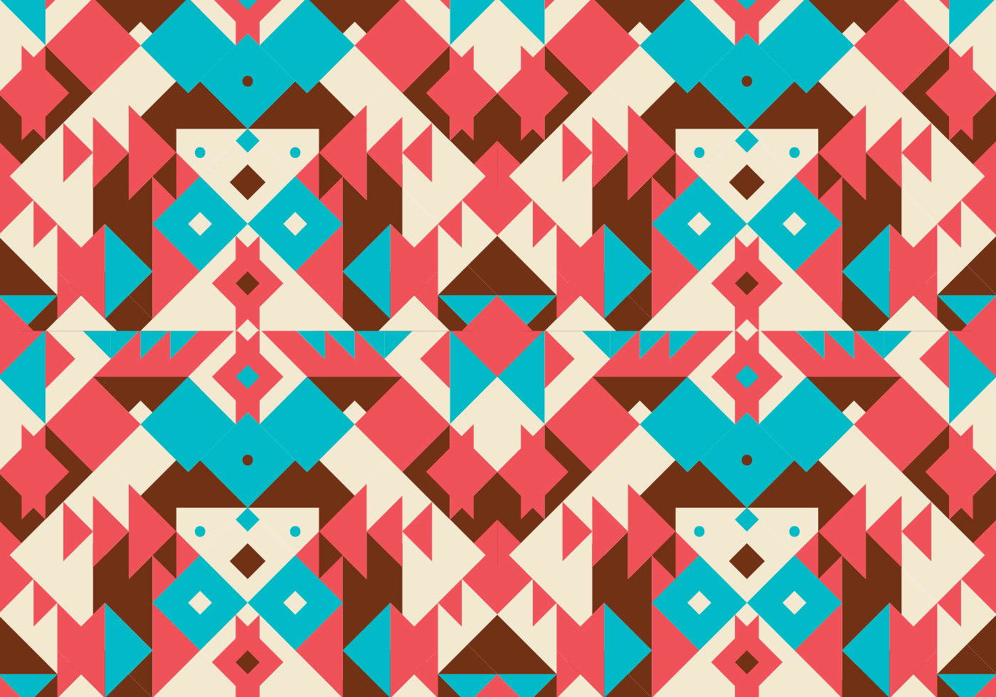 Native American Design Wallpaper : Native abstract pattern background vector download free