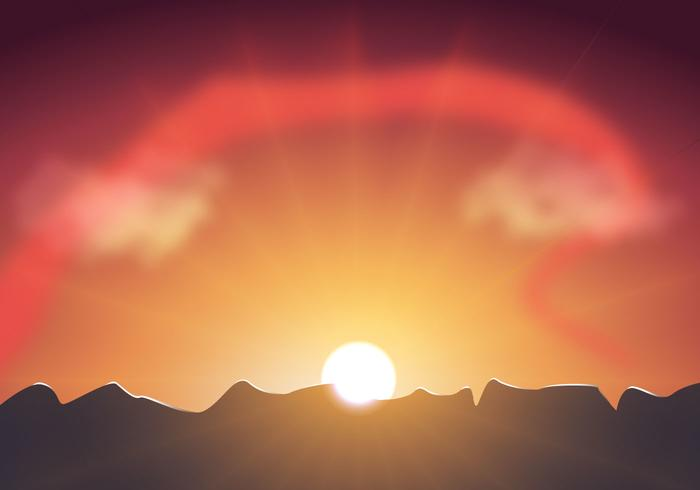 Free Sunset Sky Vector