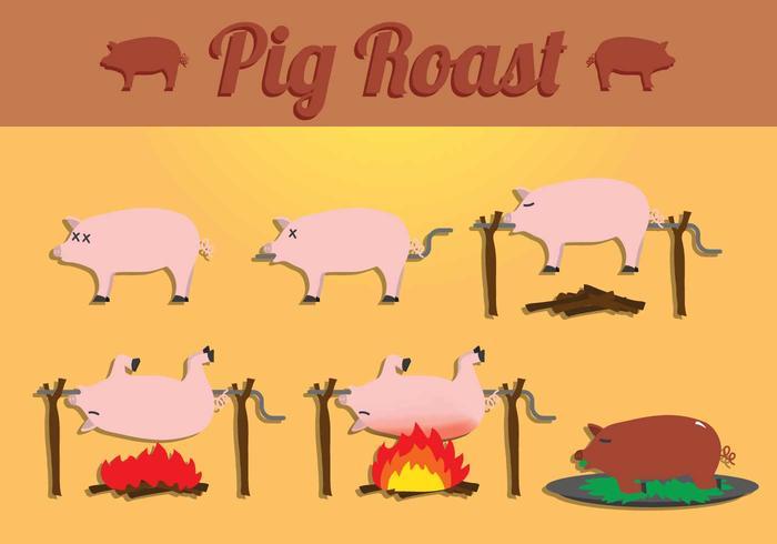Pig Roast Vectores