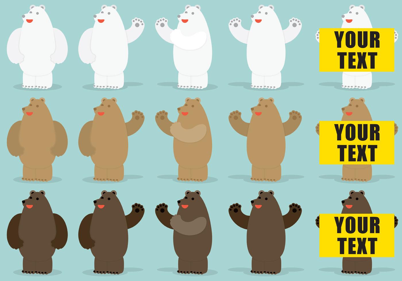 Bear Vector Characters Download Free Vector Art Stock