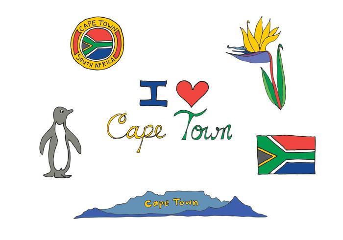 Série gratuite de vecteurs de Cape Town