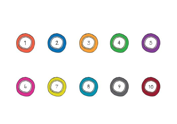 Série Lotto Balls Vector gratuite