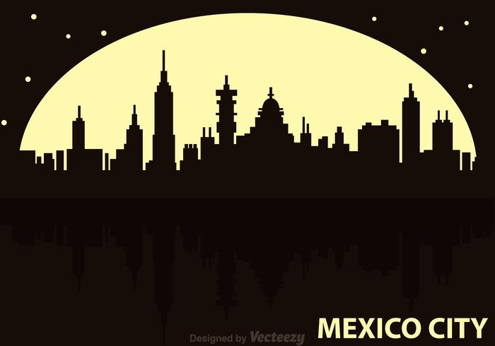 Mexico City Night Vector