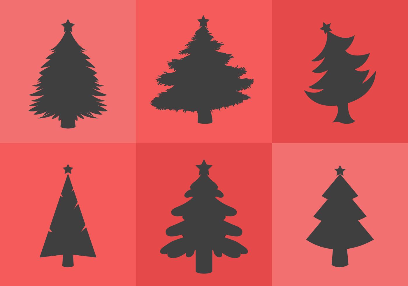 Christmas tree silhouettes