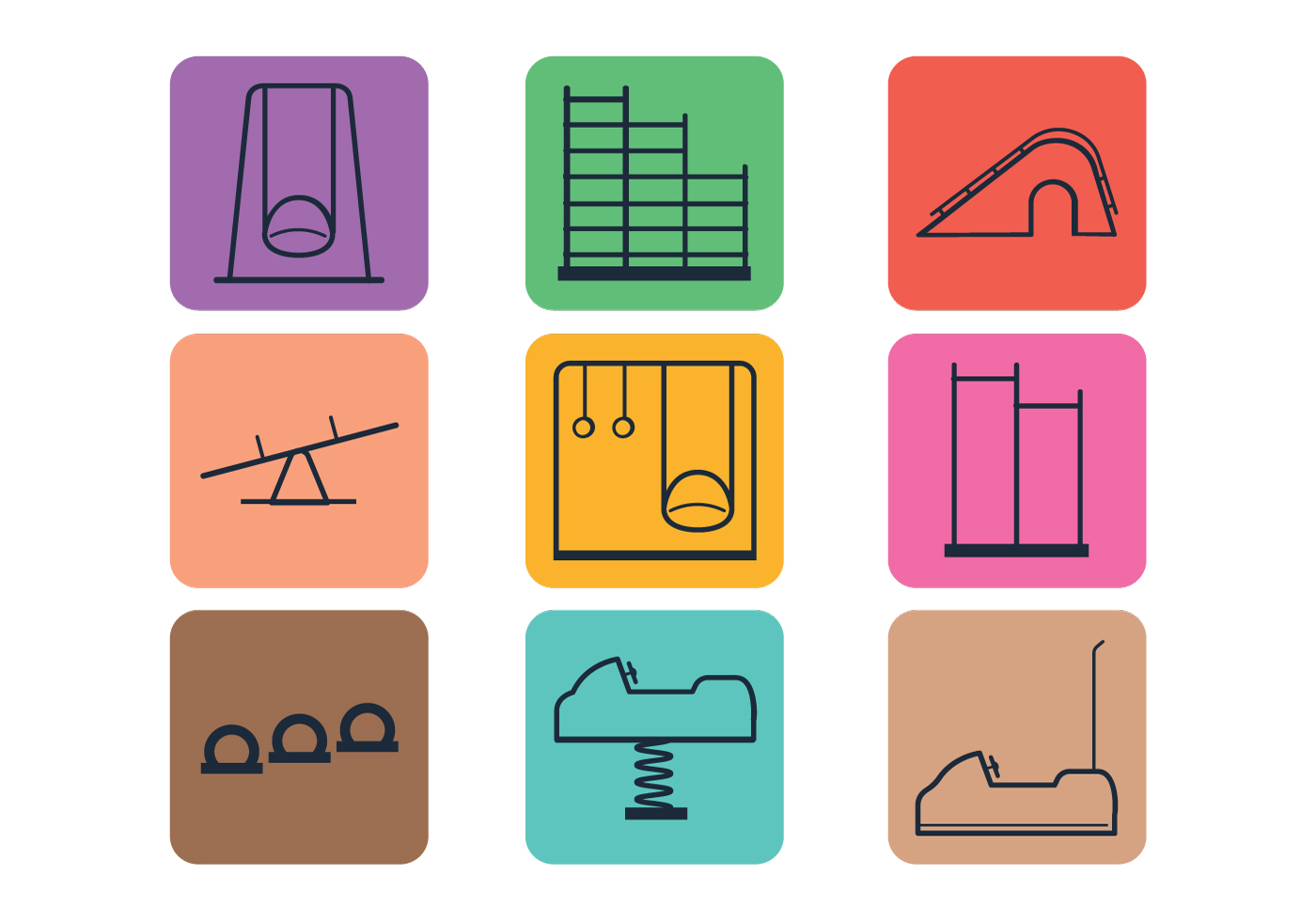 vector playground icons download free vector art stock