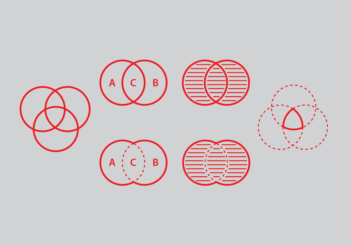 Venn Diagram Vector Set