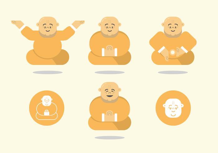 Pacote de vetor de gordura Budda