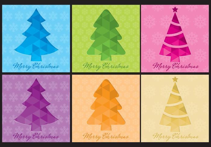 Christmas Tree Vector Templates