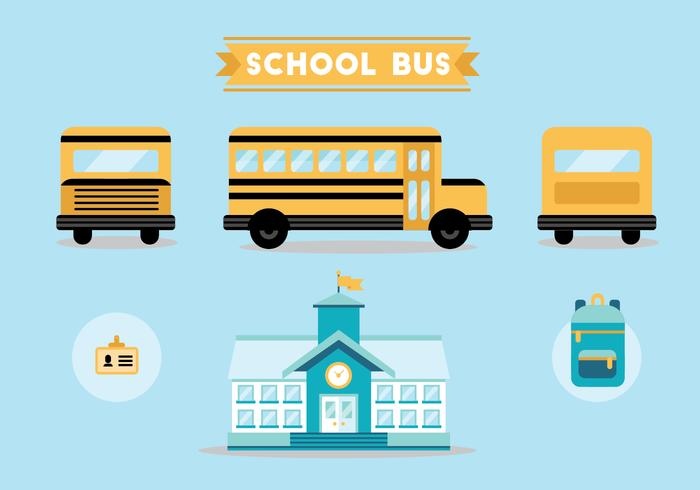 School Bus Vector Set