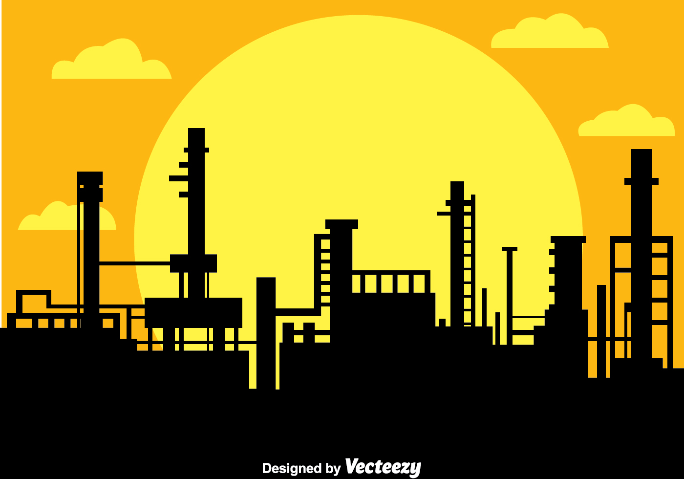 factory silhouette free vector art