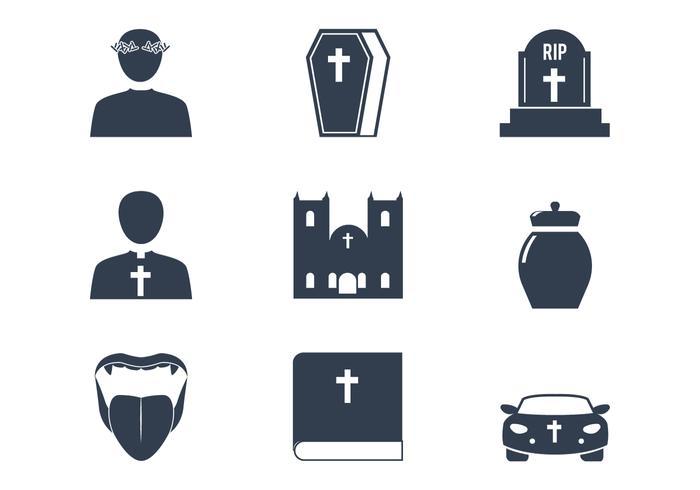 Ícones do vetor da igreja