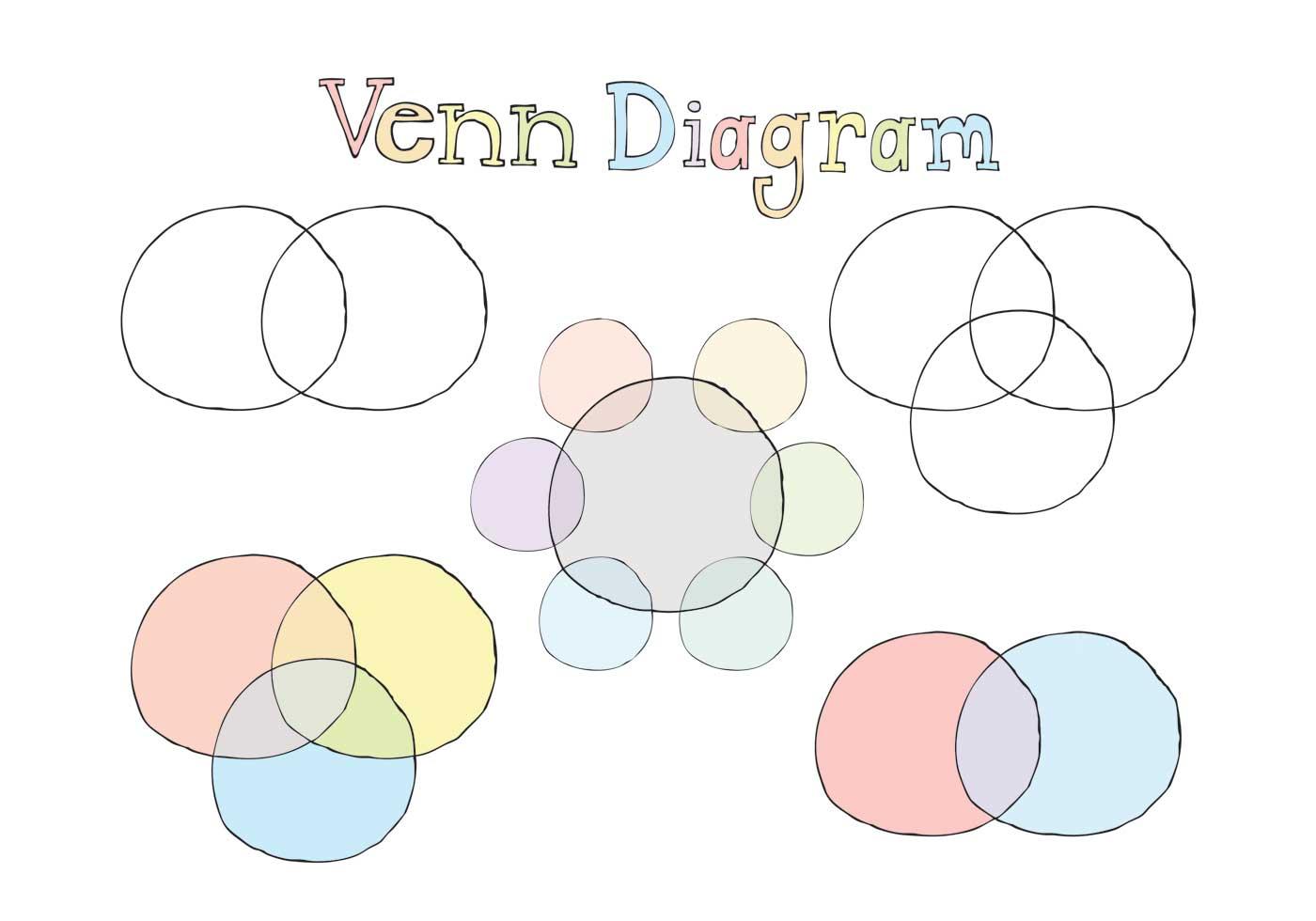 Free Venn Diagram Vector Series