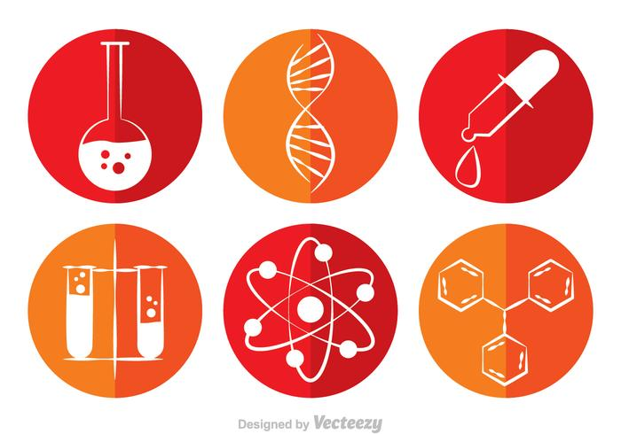 Chemistry Circle Vector Icons