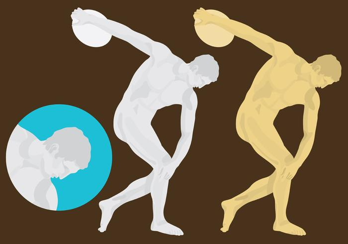 Discus Thrower Sculpture Vector