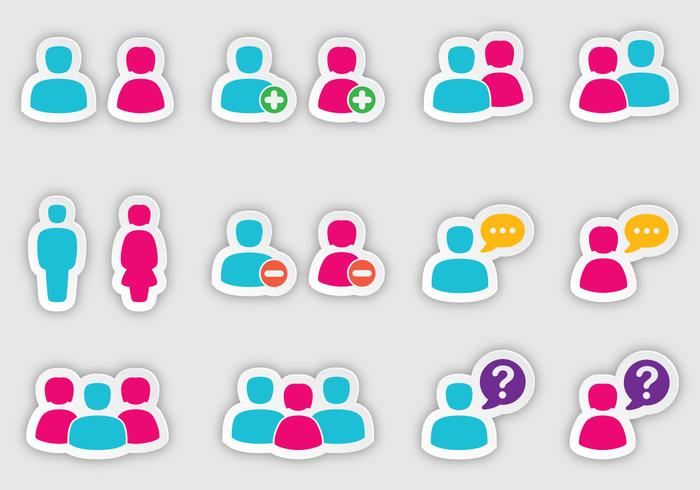 People Sticker Vectors