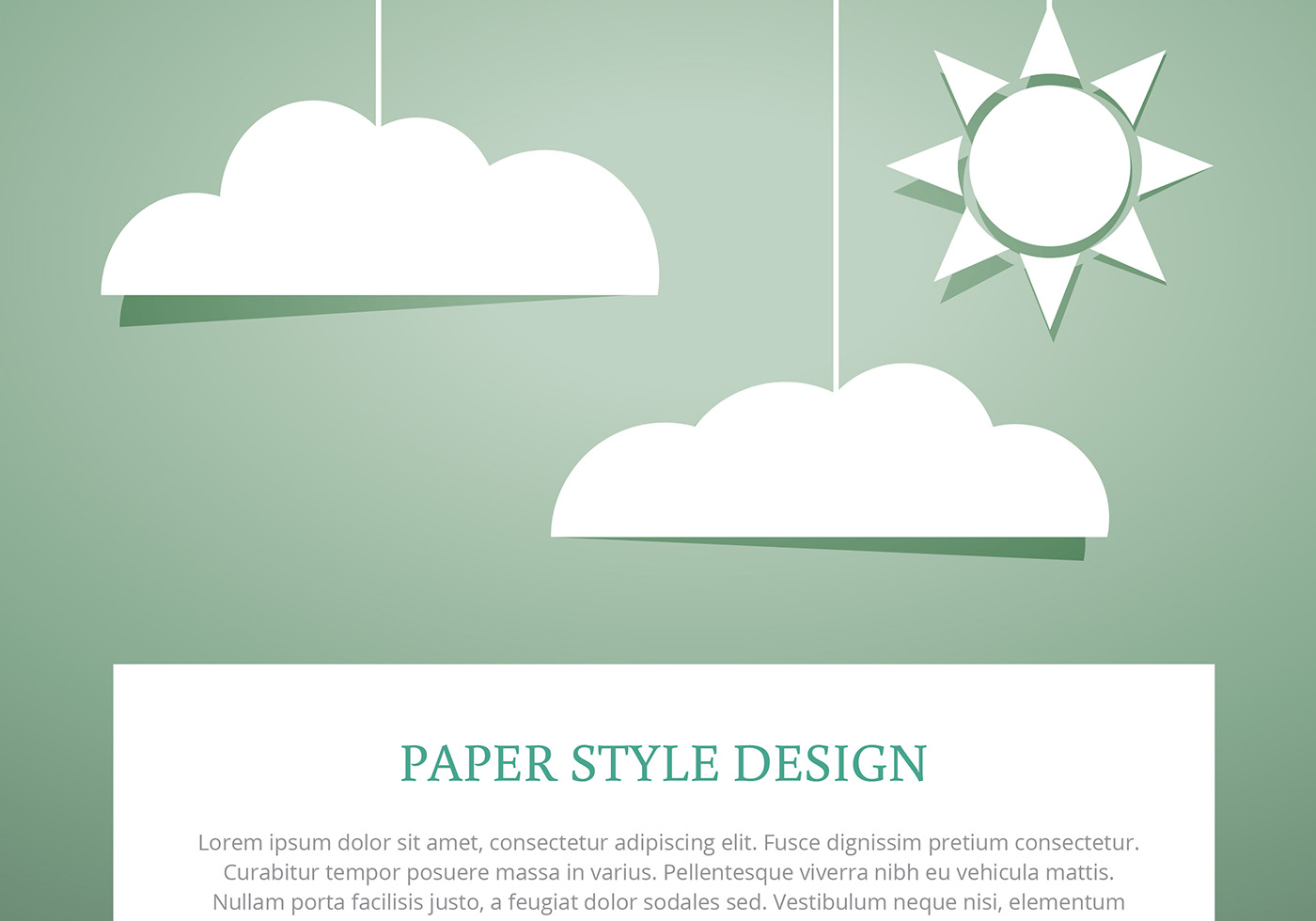 Sky clouds paper cut style vectors download free vector for How to make a paper cloud
