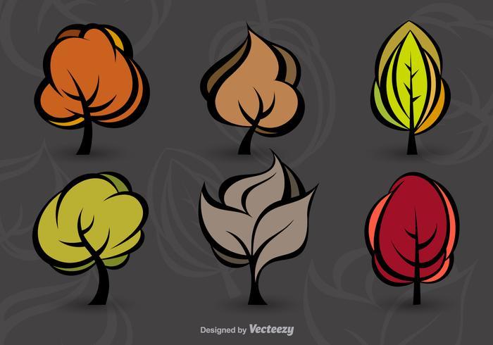 Árboles modernos de otoño