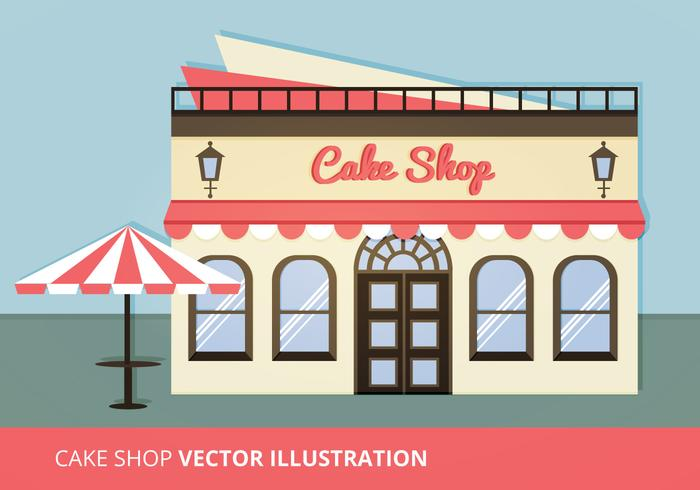 Kuchen-Shop Vektor-Illustration