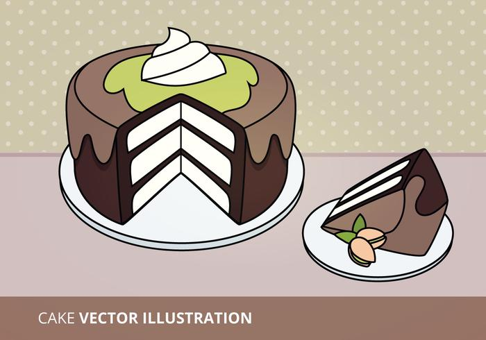 Illustration vectorielle de gateau vecteur