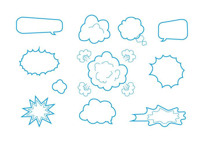 Free Comics Elements Vectors
